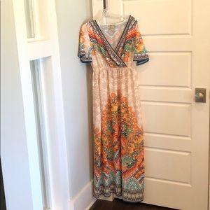 Flying Tomato Multicolor Maxi Dress